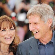 Cannes 2008: Karen Allen e Harrison Ford al photo-call di Indiana Jones e il Regno del Teschio di Cristallo