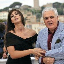 Festival di Cannes 2008: Monica Bellucci con l'autore di Sangue pazzo, Marco Tullio Giordana