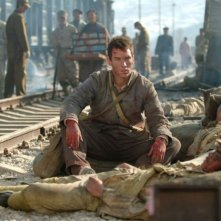Jonathan Rhys Meyers in una sequenza del film The Children of Huang Shi