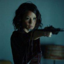 Lucy Liu in una scena del film Rise: Blood Hunter