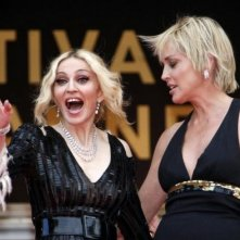 Cannes 2008: Glamour in passerella con Madonna e Sharon Stone. La popstar ha presentato il documentario I Am Because We Are.