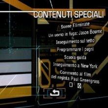 Il menù dei contenuti speciali del disco di The Bourne Ultimatum