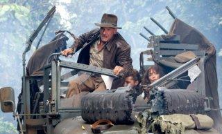 Harrison Ford in una scena del film Indiana Jones e il regno del Teschio di cristallo, quarto capitolo del franchise