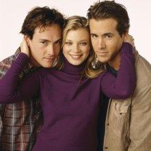 Chris Klein, Amy Smart e Ryan Reynolds in una foto promozionale del film Just Friends