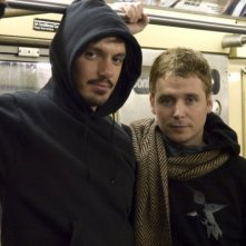Lukas Haas e il regista Kevin Connolly sul set del film Gardener of Eden