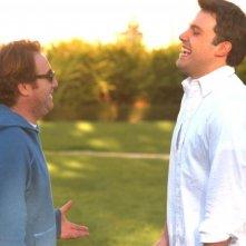 Mike Binder e Ben Affleck sul set del film Man About Town