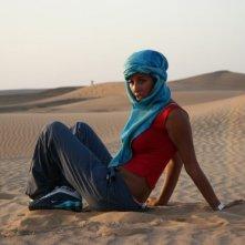 Ghizlane Waldi in una scena del film Corazones de mujer