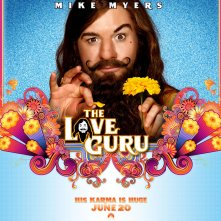 Un wallpaper di Mike Myers nel film The Love Guru