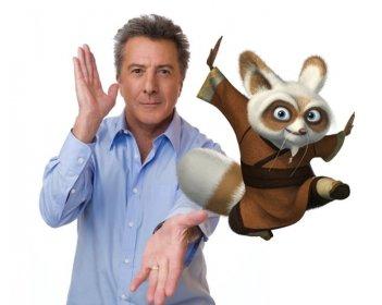 Dustin Hoffman, voce di Shifu, in una foto promozionale del film Kung Fu Panda
