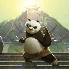 L'adorabile panda Po in un'immagine del nuovo film d'animazione della Dreamworks, Kung Fu Panda