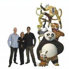 Una foto di gruppo per i creatori di Kung Fu Panda e le loro creature animate