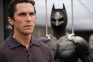 Christian Bale in una scena de Il cavaliere oscuro d Cristopher Nolan