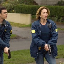 Colin Hanks e Diane Lane in una scena del film Nella rete del serial killer
