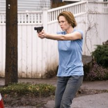 Diane Lane in una sequenza drammatica del film Nella rete del serial killer