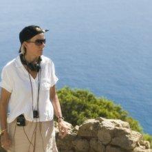 La regista Phyllida Lloyd sul set del musical Mamma Mia!