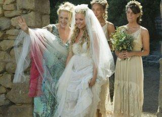 Meryl Streep e Amanda Seyfried in una scena del musical Mamma Mia!