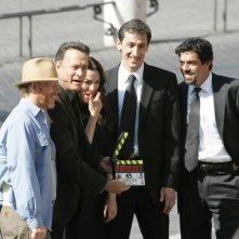 Ron Howard, Tom Hanks, Ayelet Zurer e Pierfrancesco Favino sul set romano di Angeli e demoni
