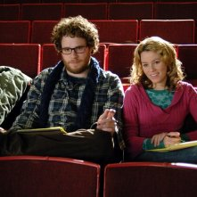 Seth Rogen ed Elizabeth Banks in una scena di Zack and Miri Make a Porno