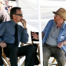 Tom Hanks e Ron Howard a Roma sul set di Angeli e demoni