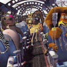 Una scena del film d'animazione Madagascar 2 - Via dall'isola