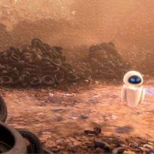 Un'immagine tratta dal film Wall-E, nuova attesissima pellicola della Pixar