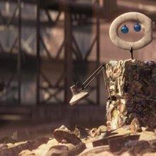 Un'immagine tratta dal film Wall-E, nuovo lavoro degli studi Pixar