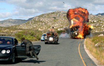 Una scena 'esplosiva' del film Doomsday