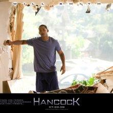 Un wallpaper del film Hancock con la star Will Smith