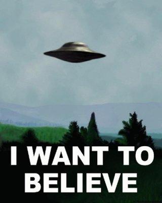 Il poster che decora l'ufficio di Fox Mulder nella serie X-Files