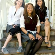Margo Harshman, Raven-Symoné e Brenda Song sul set del film College Road Trip