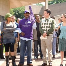 Raven-Symone, Martin Lawrence, Donny Osmond e Margo Harshman in una scena del film College Road Trip