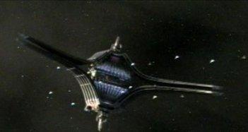 Una scena dell'episodio 'The Hub' della quarta stagione di Battlestar Galactica