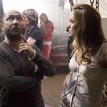 Timur Bekmambetov con Angelina Jolie sul set di 'Wanted'