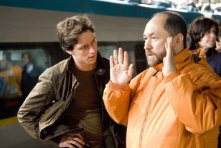 Timur Bekmambetov con James McAvoy sul set di 'Wanted'