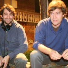 I registi Jay Duplass e Mark Duplass sul set del film Baghead