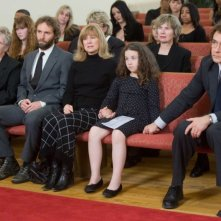 Alessandro Nivola, Gracie Bednarczyk e John Cusack in una scena del film Grace is Gone