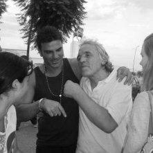 Salvatore Ruocco con il regista Abel Ferrara sul set di Napoli Napoli Napoli