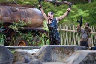 Ben Stiller in una scena dell'action comedy Tropic Thunder