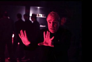 Il regista Abel Ferrara sul set del film 'Go Go Tales'