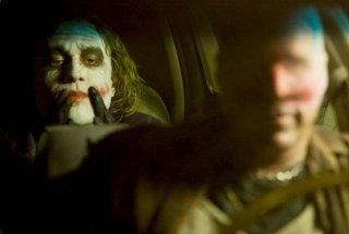 Heath Ledger/Joker in una scena del film The Dark Knight