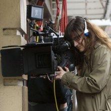 La regista Isabel Coixet sul set del film Elegy