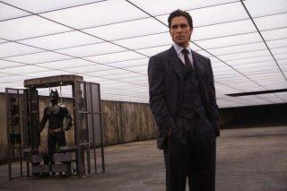 Christian Bale in una scena de Il cavaliere oscuro
