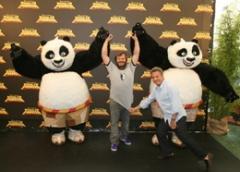 Black, Hoffman e Volo presentano a Roma Kung Fu Panda