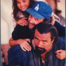 Eliana Giua con Diego Abatantuono sul set di un film.