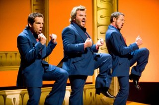 Ben Stiller, Jack Black e Robert Downey Jr. in una scena del film Tropic Thunder