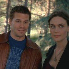 David Boreanaz ed Emily Deschanel nella serie tv 'Bones', episodio: Gioco del Serial Killer