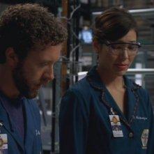 Michaela Conlin e T.J. Thyne nella serie 'Bones', nell'episodio dal titolo: Un marito perfetto