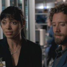 Tamara Taylor e T.J. Thyne nella serie 'Bones', nell'episodio dal titolo: Il mistero del bosco