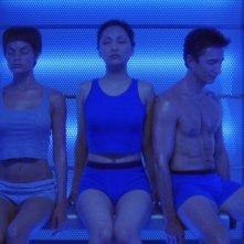 Jolene Blalock, Dominic Keating e Linda Park nella serie tv 'Enterprise', episodio: Una nave alla deriva