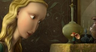La principessa Pea e Desperaux in un'immagine tratta dal film The Tale of Despereaux